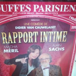 Rapport intime, de Didier VanCauwelaert