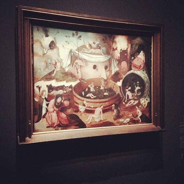 École de Hieronymus Bosch  La Vision de Tondal  1520-1530  huile sur bois ; 54 x 72 cm  Madrid, Fundación Lázaro Galdiano