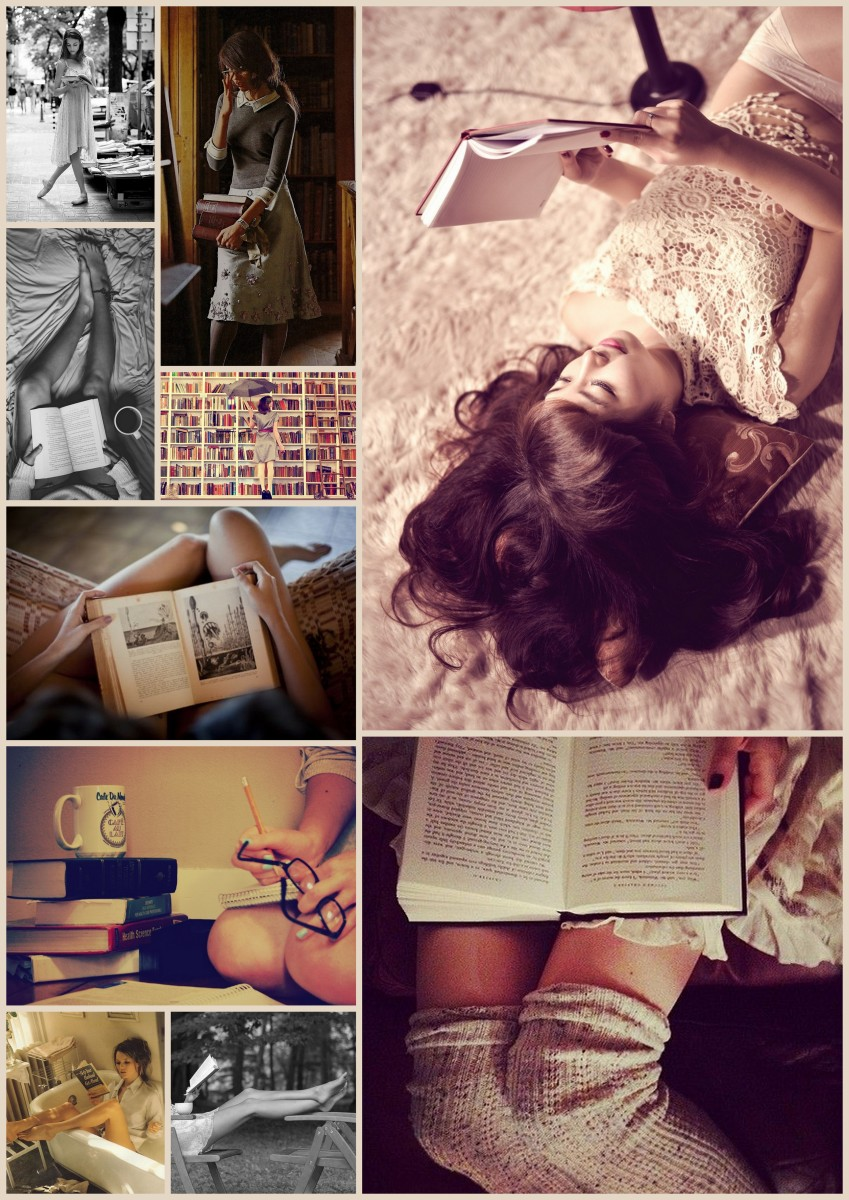 Moodboard #10 (reading is sexy)