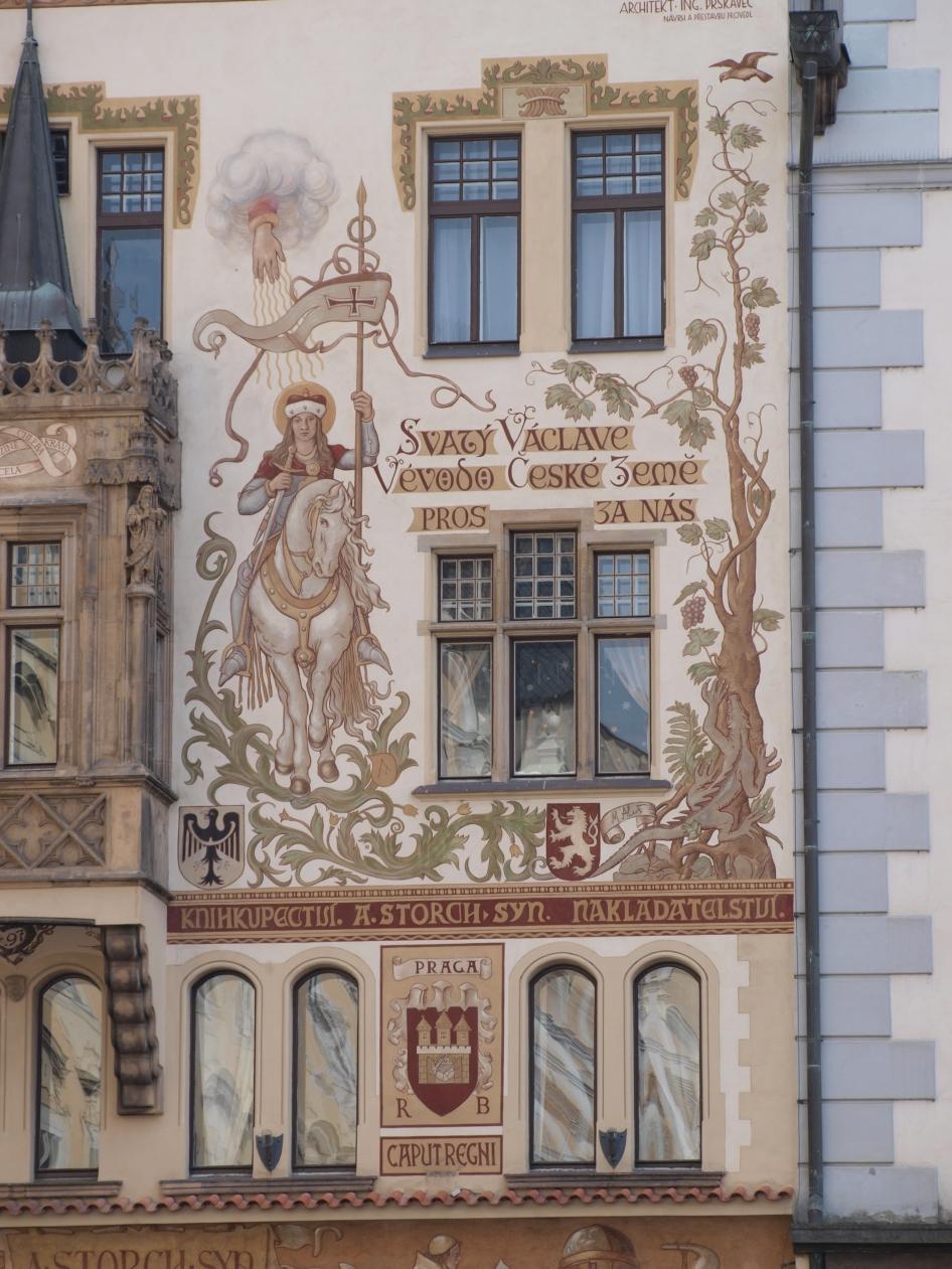 Maison Storch (illustrée d'une représentation de saint Venceslas à cheval)