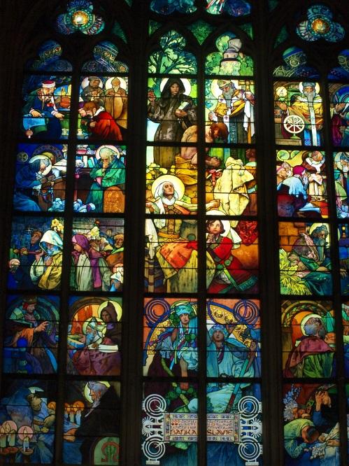 Vitrail d'Alfons Mucha