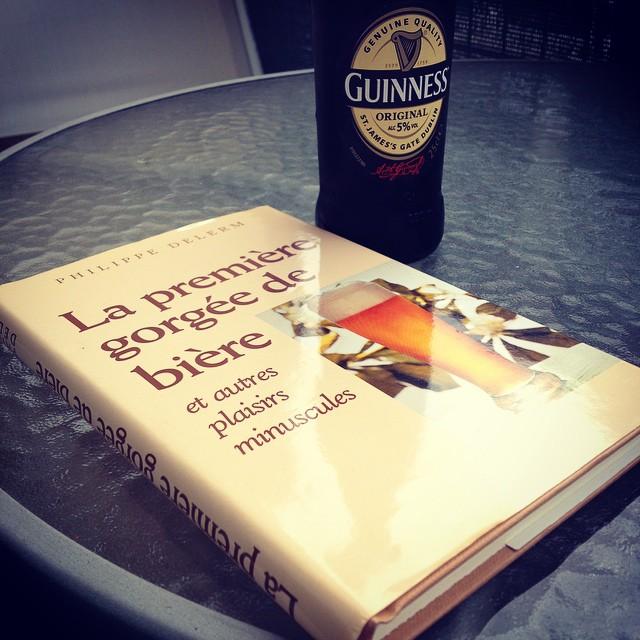 La première gorgée de bière