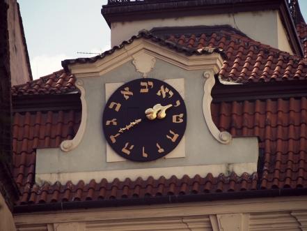 Prague, horloge du quartier juif
