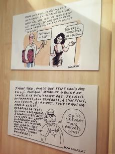Hommage à Georges Wolinski sur le stand du Seuil