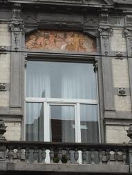 Détail d'une maison dans le quartier saint-Gilles