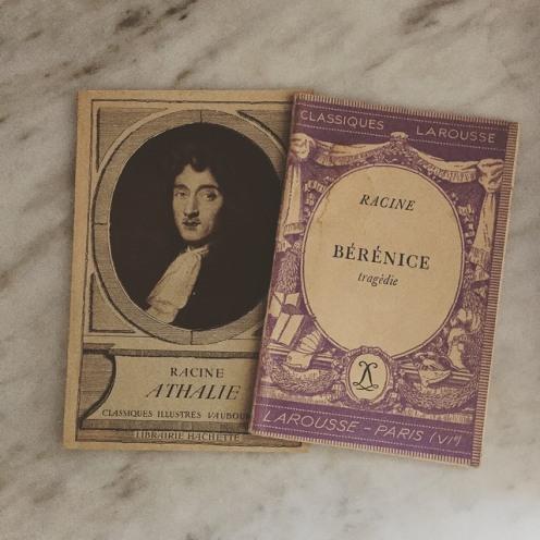 Deux très vieux exemplaires de Racine... j'ai tout un rayon de bibliothèque avec ces vieilles éditions