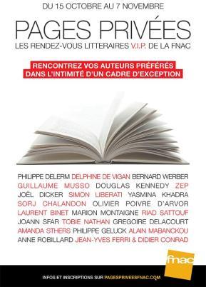 Pages Privées, les rendez-vous littéraires VIP de laFnac