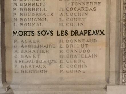 Écrivains morts pour la France