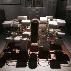 Yona Friedman - Ville spatiale, 1959-1960 Maquette Bois, polystyrène, bracelets indiens, carton, métal