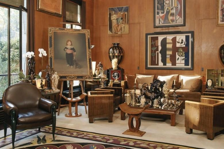 Grand Salon du 55 rue de Babylone, où vécut Yves Saint Laurent de 1970 à 2008 Photographie Nicolas Mathéus