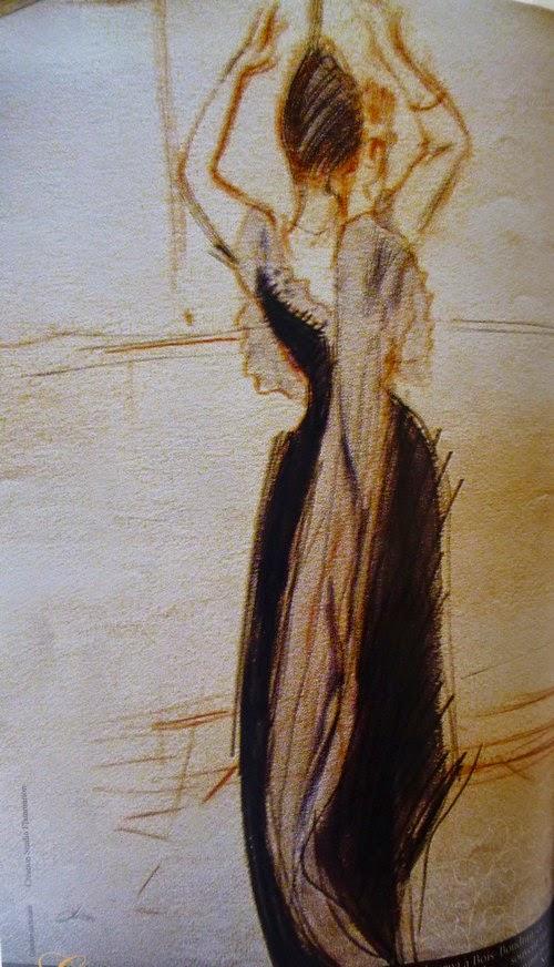 """Paul-César Helleu (1859-1927) """"Le lys"""", portrait de la comtesse Greffulhe de dos (1891) Dessin aux trois crayons, collection particulière"""