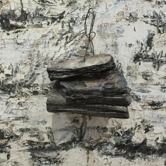 Anselm Kiefer - Pour Paul Celan, Fleur de cendre (détail : livre brûlé)