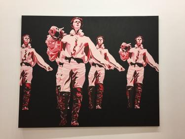 Gérard Fromanger, Le Rouge et le noir dans le Prince de Hombourg, 1965