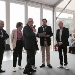Remise du prix coeur de France par le maire de Limoges