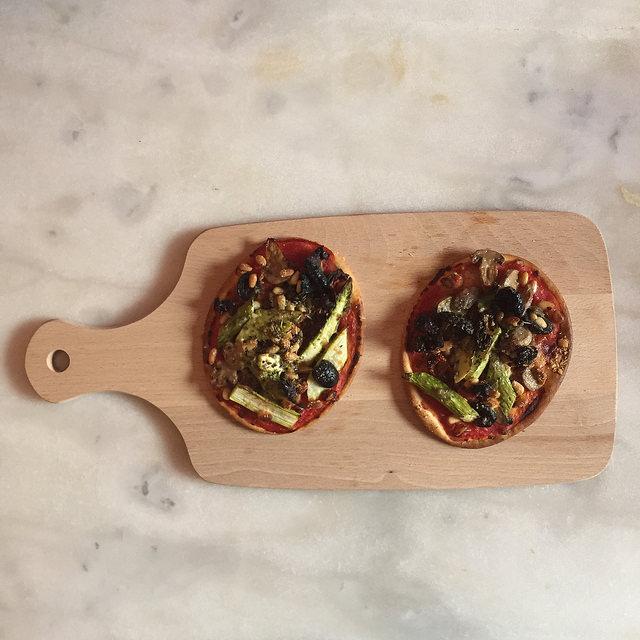 tartes aux asperges et champignons
