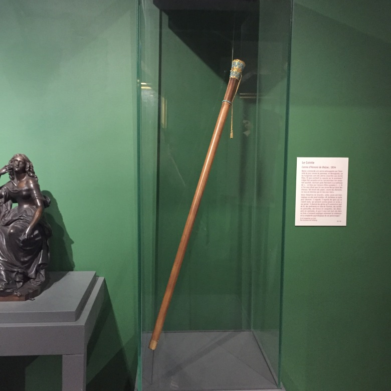 La canne de Balzac, qui a inspiré un texte à Delphine de Girardin