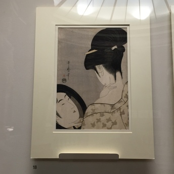 Utamaro - Femme se poudrant le cou