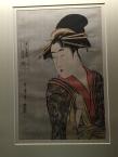 """Utamaro - La courtisane Takigawa de Gomeiro, série """"comparaison des charmes des beautés"""""""