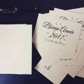 Ecrire des cartes devoeux