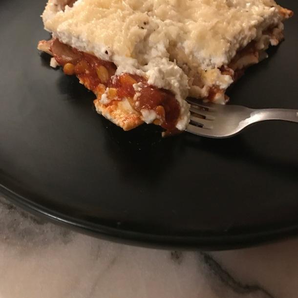 lasagnes méditerranéennes à la brousse et à la tomate