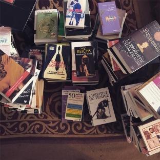 Des piles de livres