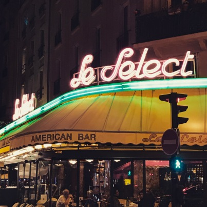 Montparnasse by night - Le Select