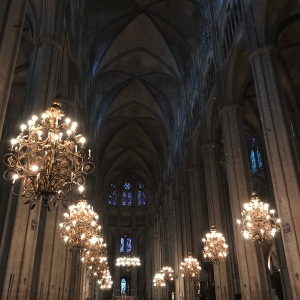 Cathédrale Saint-Etienne - intérieur nuit