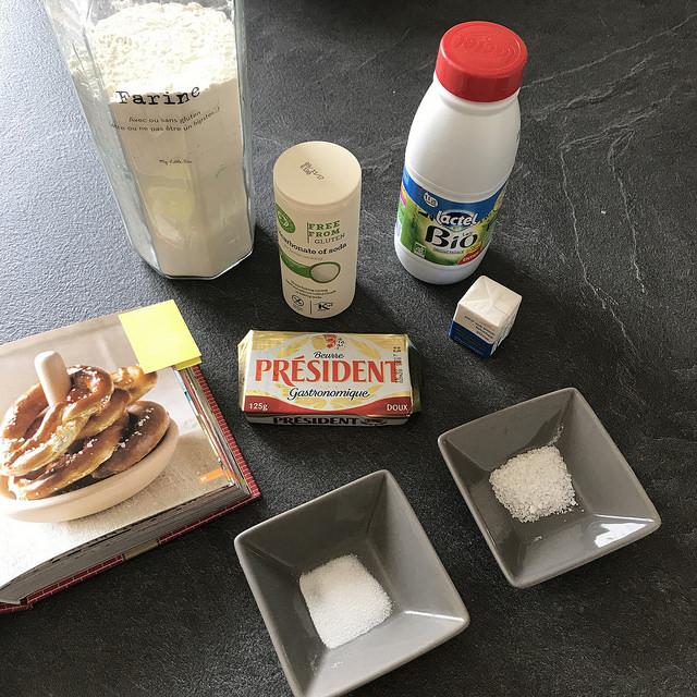 Ingrédients bretzels