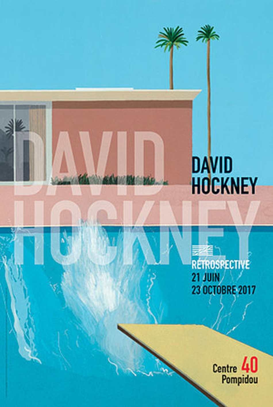 David Hockney à Beaubourg