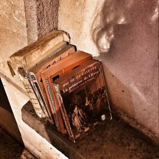 Des livres abandonnés...