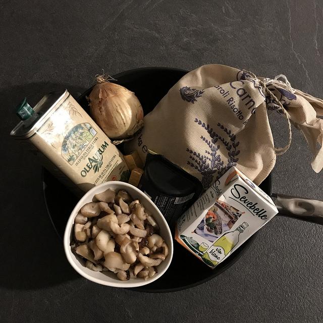 Risotto aux cèpes et au foie gras