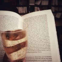 Reading with champagne