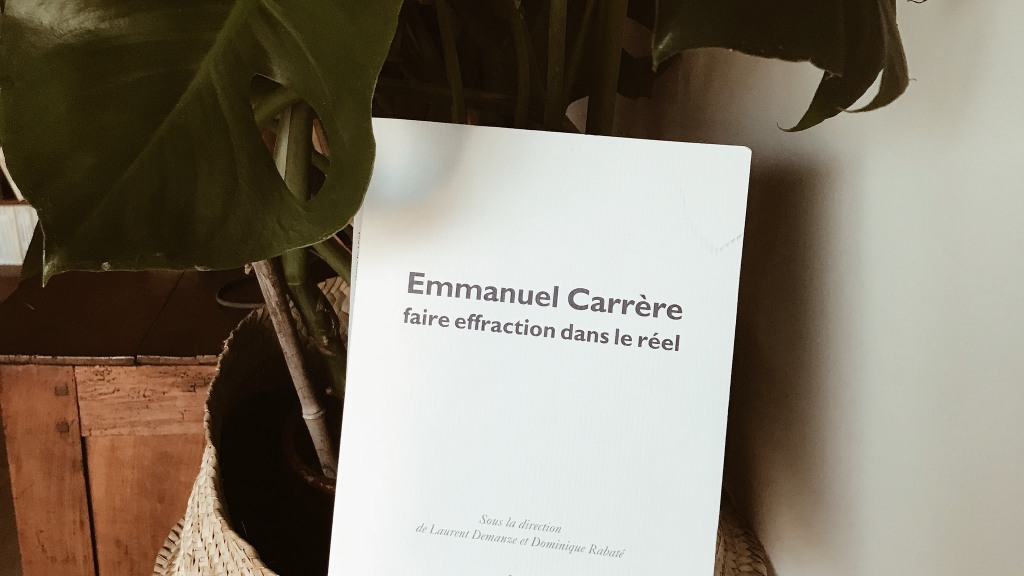 Emmanuel Carrère, faire effraction dans le réel (sous la direction de Laurent Demanze et Dominique Rabaté) : le monde en questions