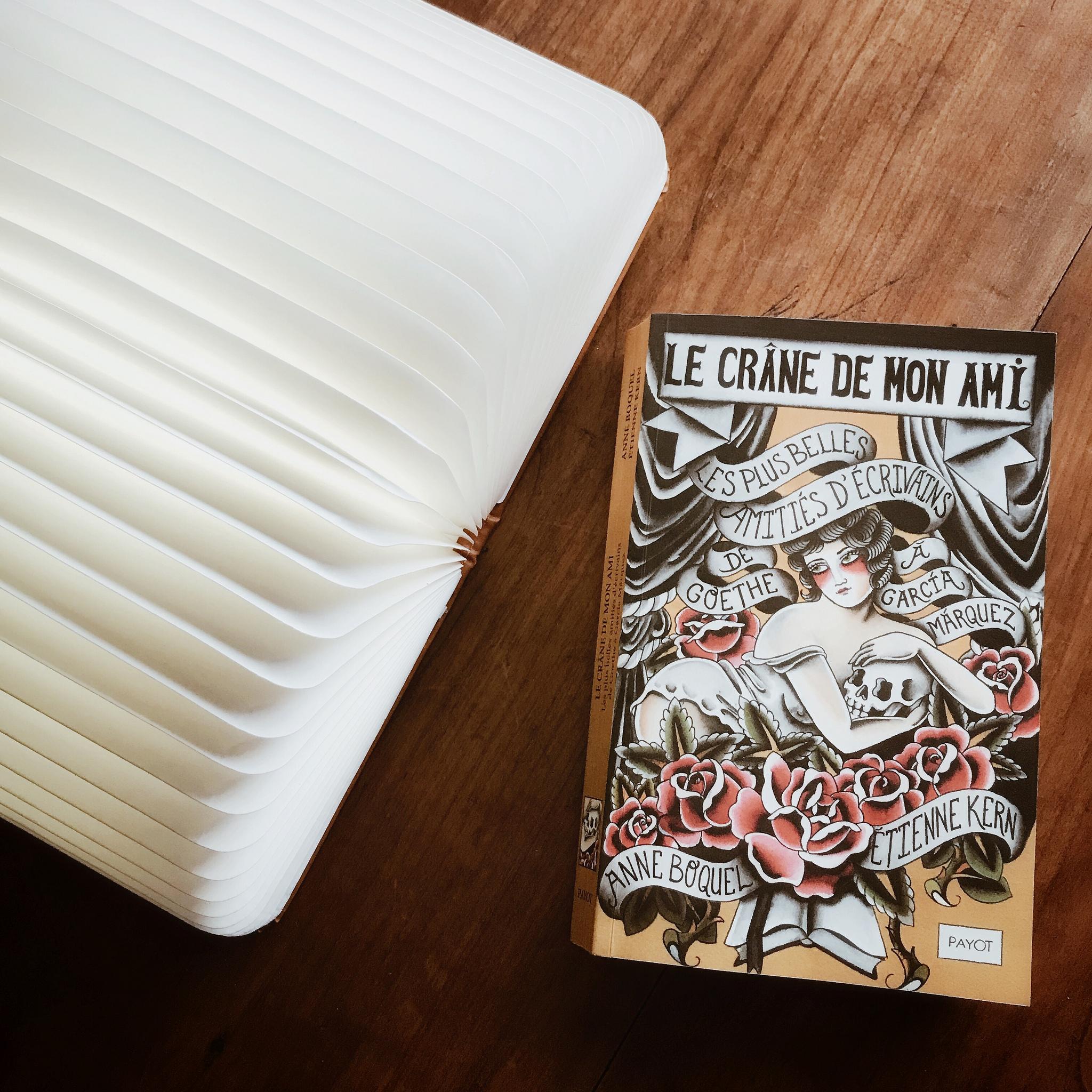 Le crâne de mon ami, les plus belles amitiés d'écrivains d'Anne Boquel et Etienne Kern : une même âme en deux corps