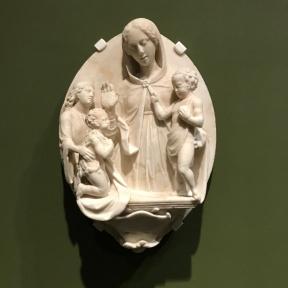 Marco Sammicheli, La Vierge et l'Enfant bénissant saint Jean-Baptiste présenté par un ange (début XVIe)