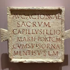 Moulage de la stèle dédiée à Acionna