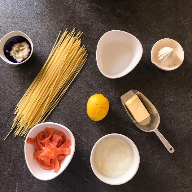 Spaghettis au saumon et au citron