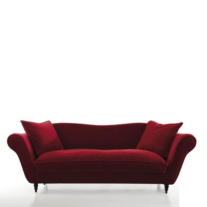 canapé en velours rouge