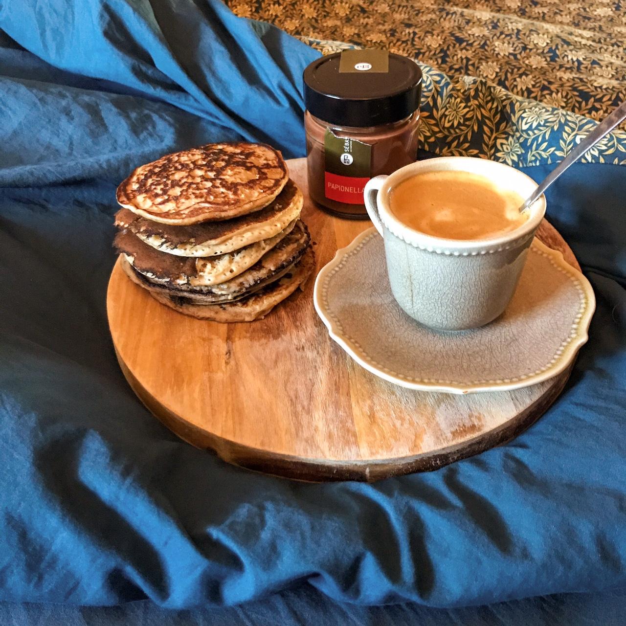 Pancakes à la ricotta et aux noix
