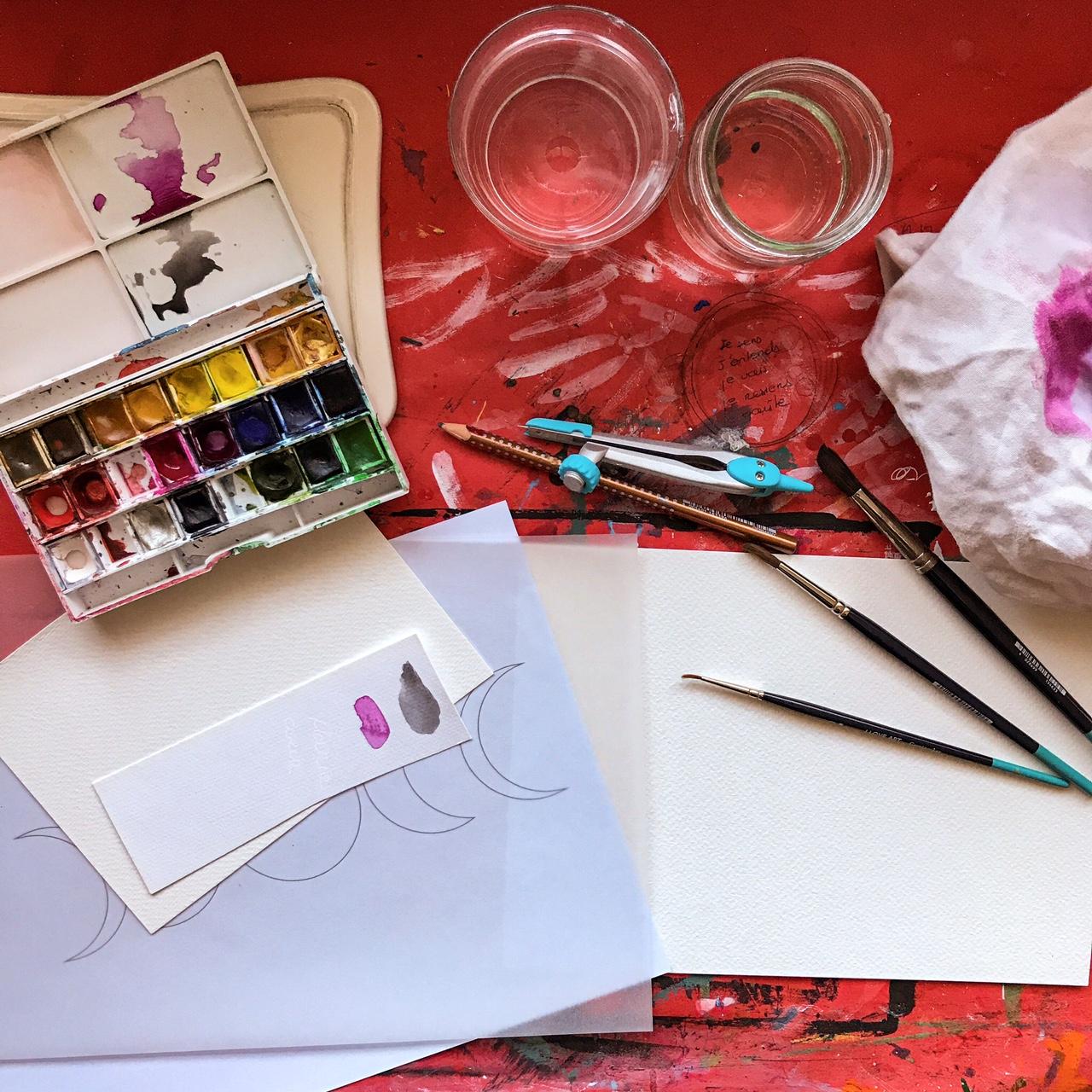 Un cours d'aquarelle