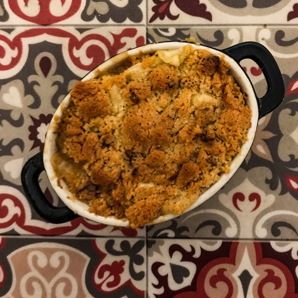 Crumble de patate douce et de carotte au saint-Nectaire