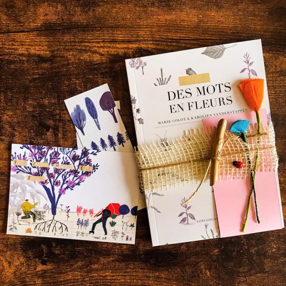 Des mots en fleurs, de Marie Colot et Karolien Vanderstappen : jardin poétique