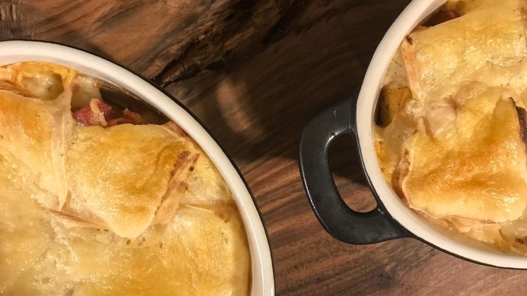 Pommes de terre gratinées au saint-Nectaire
