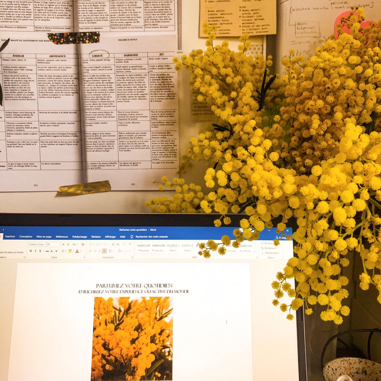 Ecrire dans l'odeur du mimosa