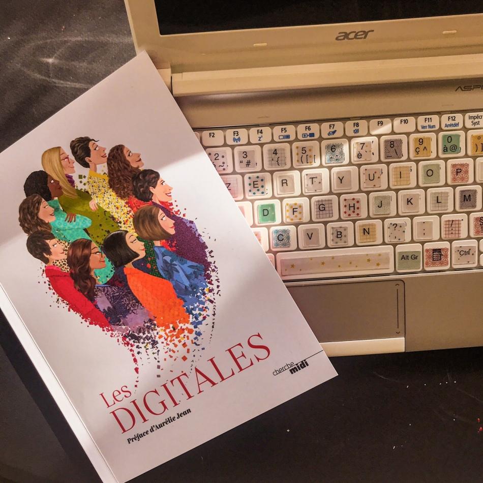 Les digitales, illustré par Fabienne Legrand : femmes et numérique