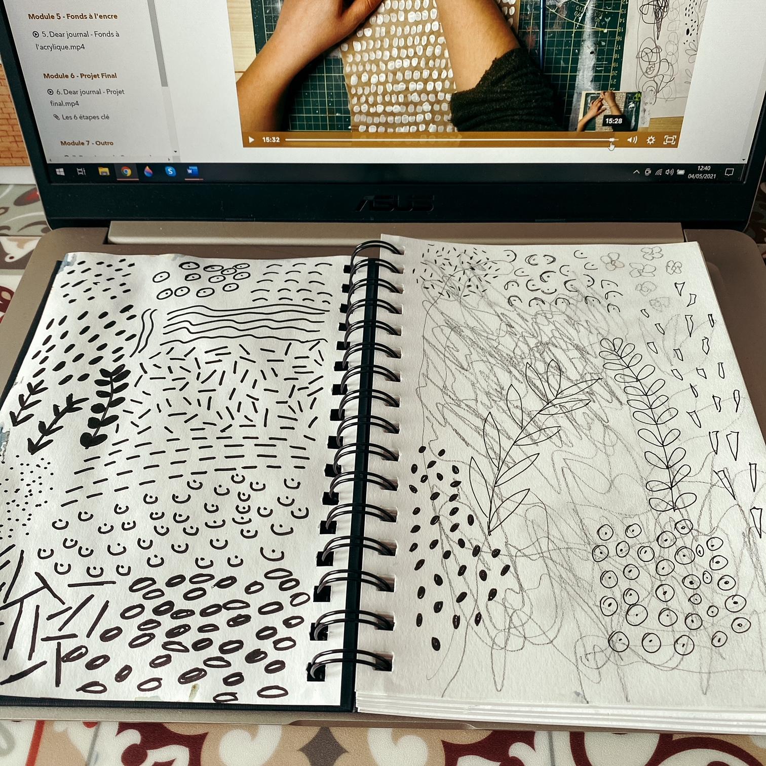 Cours de journal artistique